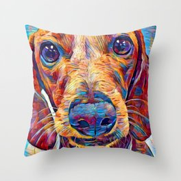 Dachshund 6 Throw Pillow