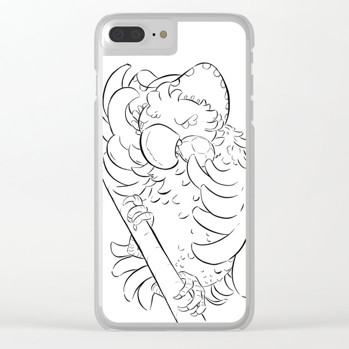 Pirate Parrot - ink Clear iPhone Case