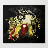 zoidberg Canvas Prints featuring Zoidpunk Steampunk Zoidberg by TheJCW