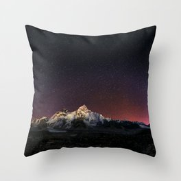 Everest Nightscape Throw Pillow