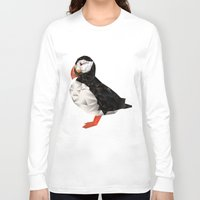 puffin Long Sleeve T-shirts featuring Puffin by LuftStudio