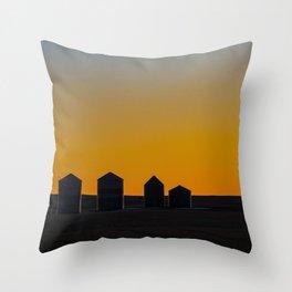 Silo Silhouette Throw Pillow