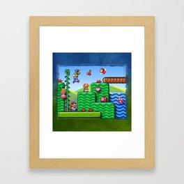 Super Mario 2 Framed Art Print