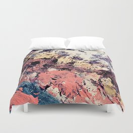 Brilliance: vibrant, colorful and textured in purple, gold, pink, blue, and white Duvet Cover