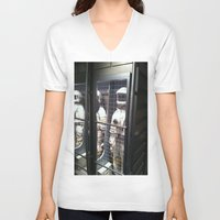 spaceman V-neck T-shirts featuring Spaceman by Brittany Bennett