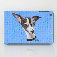 greyhound iPad Cases featuring Mia the Italian Greyhound by gretzky