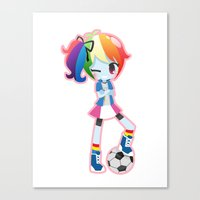 mlp Canvas Prints featuring MLP - Rainbow Dash by Choco-Minto