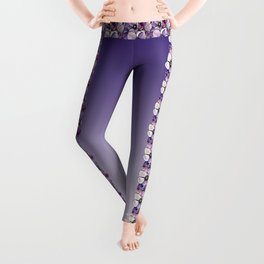 Purple petals Leggings