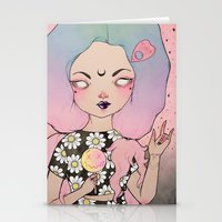 flora Stationery Cards featuring Flora by lOll3