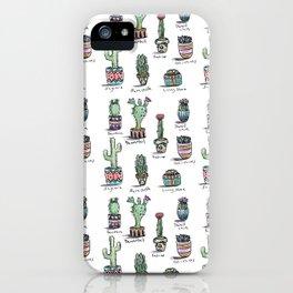 Cactus and Succulent Pattern iPhone Case