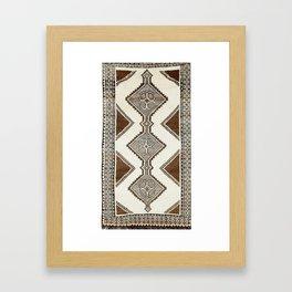 Luri Gabbeh  Antique Fars South West Persian Rug Print Framed Art Print