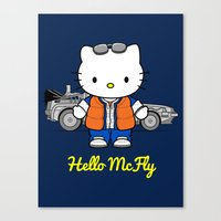 mcfly Canvas Prints featuring Hello McFly by The Epic Effect