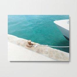 Boat Green Metal Print