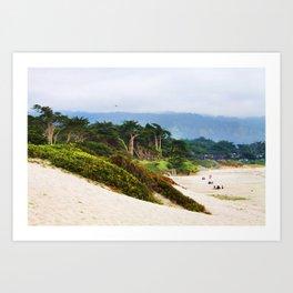 Carmel Beach Art Print