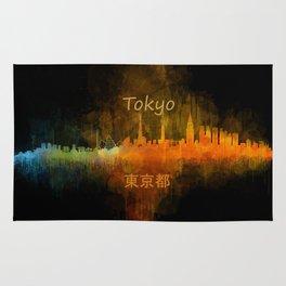 Tokyo City Skyline Hq V4 Rug