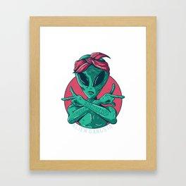Alien Gangster Framed Art Print