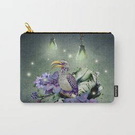 FLORAL MAGIC HORNBILL Carry-All Pouch