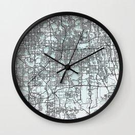 Orlando FL USA White City Map Wall Clock
