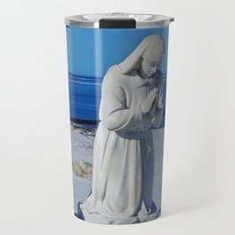 Religious Statues by the Sea Travel Mug