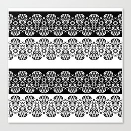 Black and white lace pattern . Canvas Print