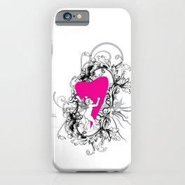 Cupid Floral Valentines Day iPhone Case