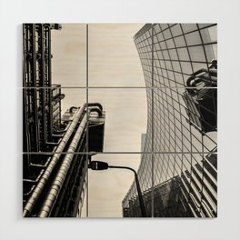 ArWork black white london art work photo Wood Wall Art