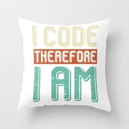 Programming Programmer Coder Nerd Throw Pillow