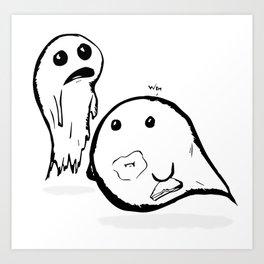 2Spooky Ghosties Art Print