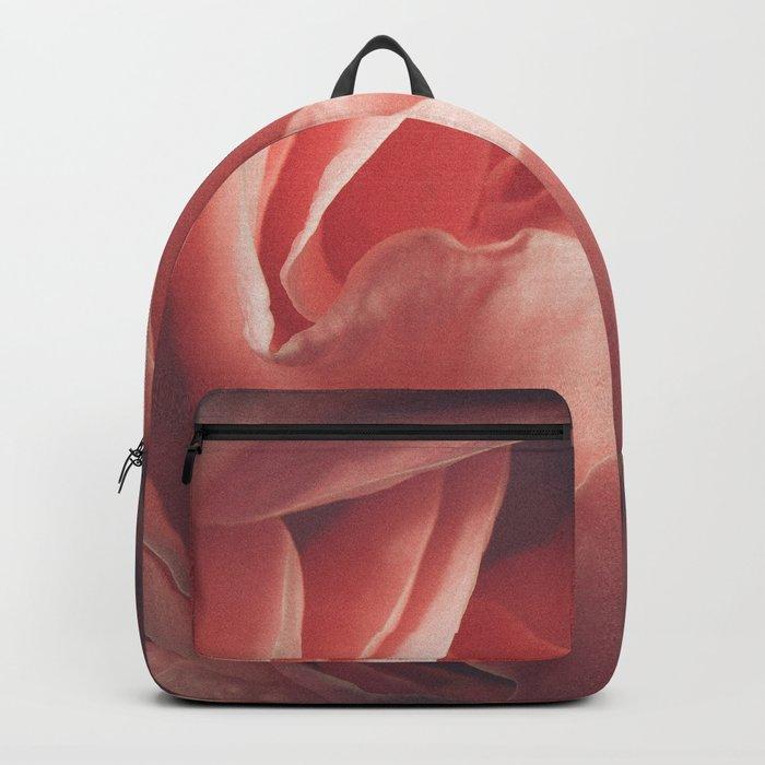 Pastel pink rose flower blossom Backpack
