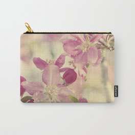 Pink Crabapple Blossom Carry-All Pouch
