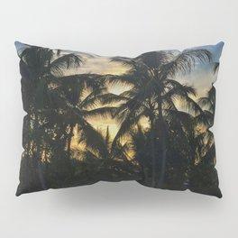 Golden Palm Trees Pillow Sham