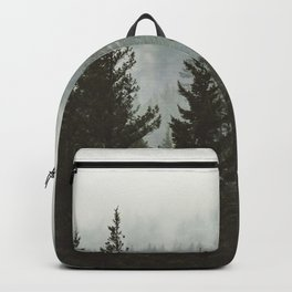 Forest Fog Mountain IV - Wanderlust Nature Photography Backpack