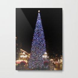 Main Street Christmas Tree (Night-time no.1) Metal Print