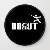donut Wall Clocks featuring Donut by Daniac Design