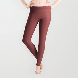 PANTONE 18-1630 Dusty Cedar Leggings