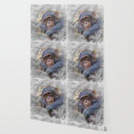 Artisatic Animal Baby Chimp Wallpaper