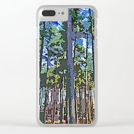 Nordic Woods Clear iPhone Case