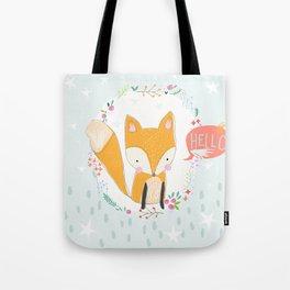 Hello, Fox Tote Bag