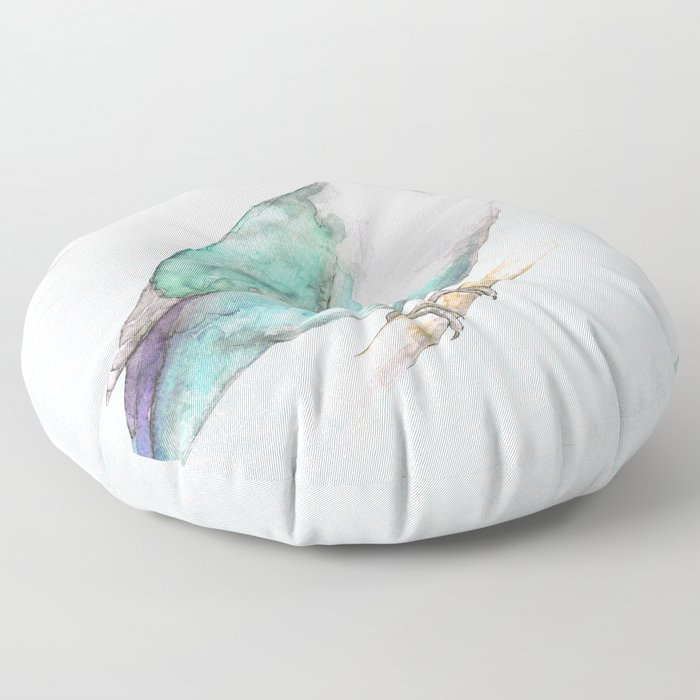 Pale blue lovebird Floor Pillow