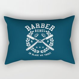 Barber Rebel, barber shop Rectangular Pillow