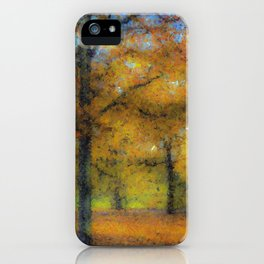 Greenwich Park London Pastel iPhone Case