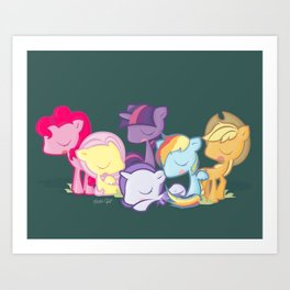 My little little ponies Art Print