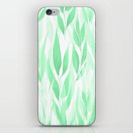 Watercolour Leaves iPhone Skin