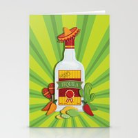 tequila Stationery Cards featuring Tequila Time by Matt Andrews