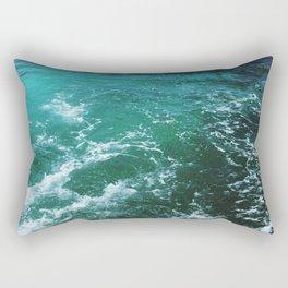 Ocean waves, Dominican republic Rectangular Pillow