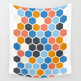 Texture hexagons - SummerColors Wall Tapestry