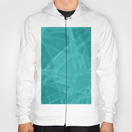 Frosty facets with chaotic aquamarine winter patterns of intersecting glowing bright thorny waves. Hoody