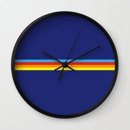 Lakshmi - Classic Retro Summer Stripes Wall Clock
