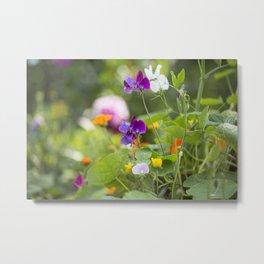 Summer Flowers colorful green meadow Metal Print