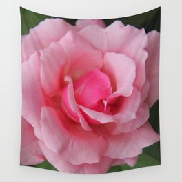 Soft Pink Rose Wall Tapestry